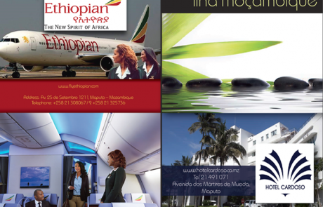 Ethiopian Airlines and Cardoso Hotel Advert Design (Mozambique)