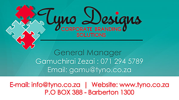 Tyno Designs Business Card