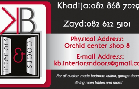KB Doors & Interiors Business CArd