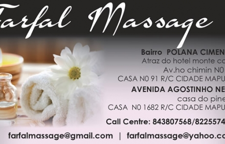 Farfal Massage Mozambique Business Card