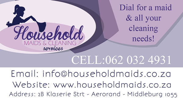 Household Maids & Cleaning Services Business Card