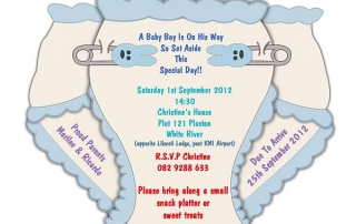 Digital Baby Shower Evite Design