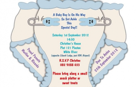 Digital Baby Shower Evite Design