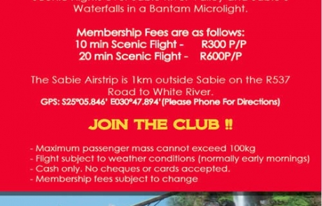 Lone Creek Flying Club in Sabie - Advert