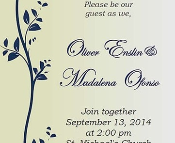 Wedding Invitation Design (Printed)