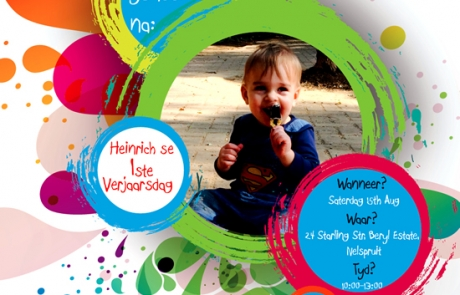 Childrens Personalised Birthday Party Invitation (Digital email invite design)