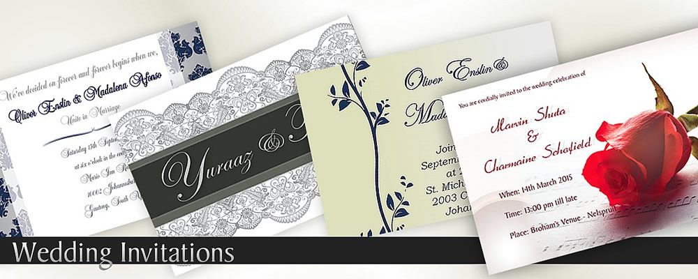 Wedding Invitation Designs Nelspruit, Mpumalanga, South Africa - Digital Invitations