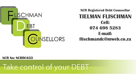 Tielman Flischman Debt Counsellors Business Card