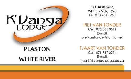 K'Vanga Lodge Business Card