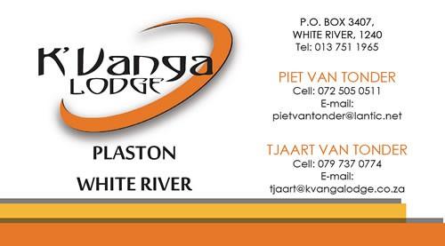 K'Vanga Lodge Business Card