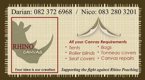Rhino Canvas Business Card