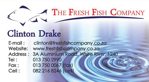 The Fresh Fish Company Business Card