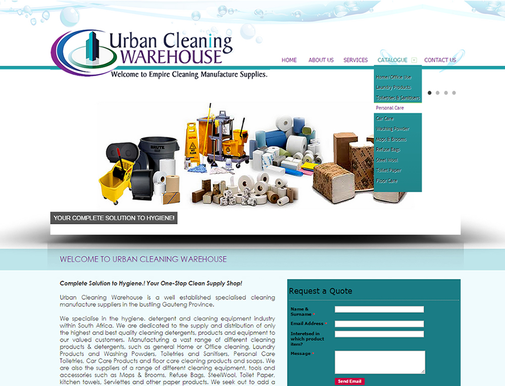 Urban Cleaning Warhouse, Supply & Distribution Company of Cleaning Products and equipment Pretoria, Joburg