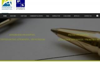 Annemarie & Pieter Swanepoel Attorneys Law Firm in Nelspruit & White River Website Design by Design so Fine