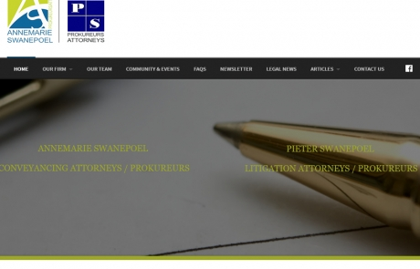 Annemarie & Pieter Swanepoel Attorneys Law Firm in Nelspruit & White River Website Design by Design so Fine