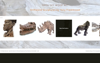 Open Sky Wood Art Drift Wood Sculptures by Tony Fredriksson Website Showcase created by Design so Fine