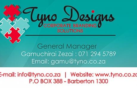Tyno Designs Business Card