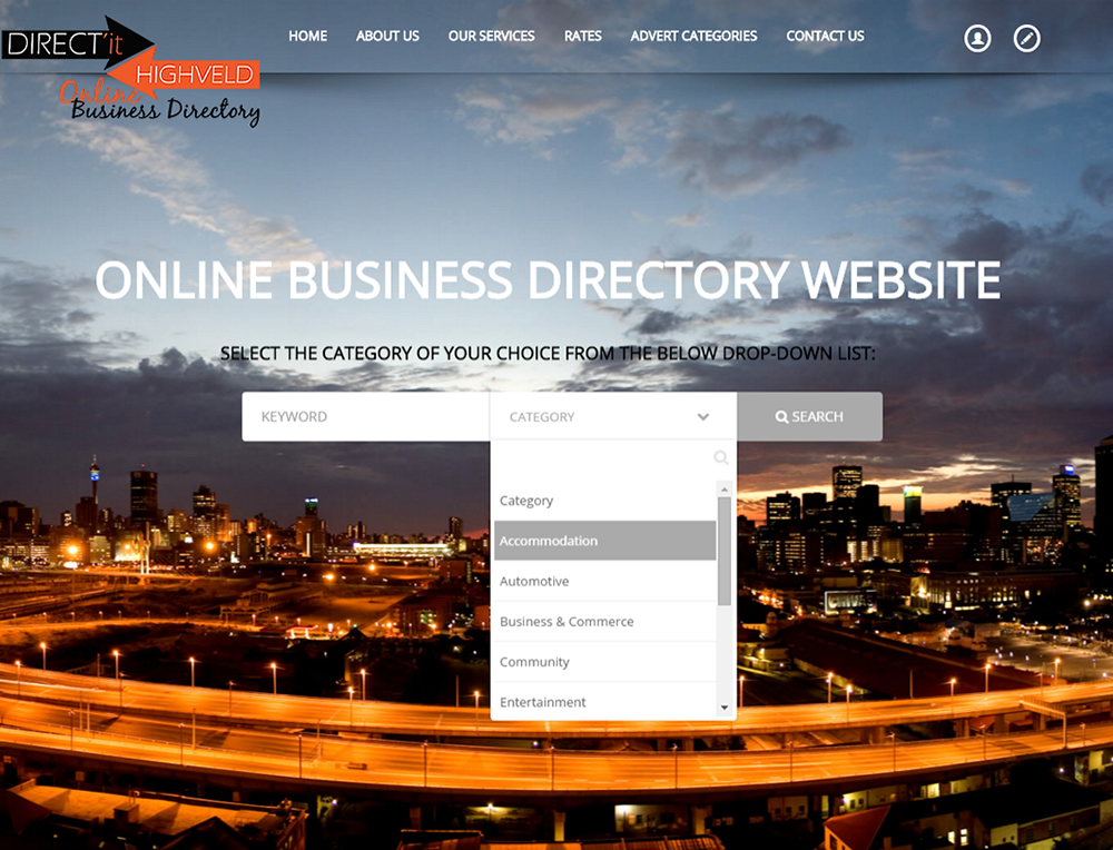 DIRECT'it HIGHVELD online Business Directory Website Gauteng, Pretoria, Johannesburg, JHB, Joburg