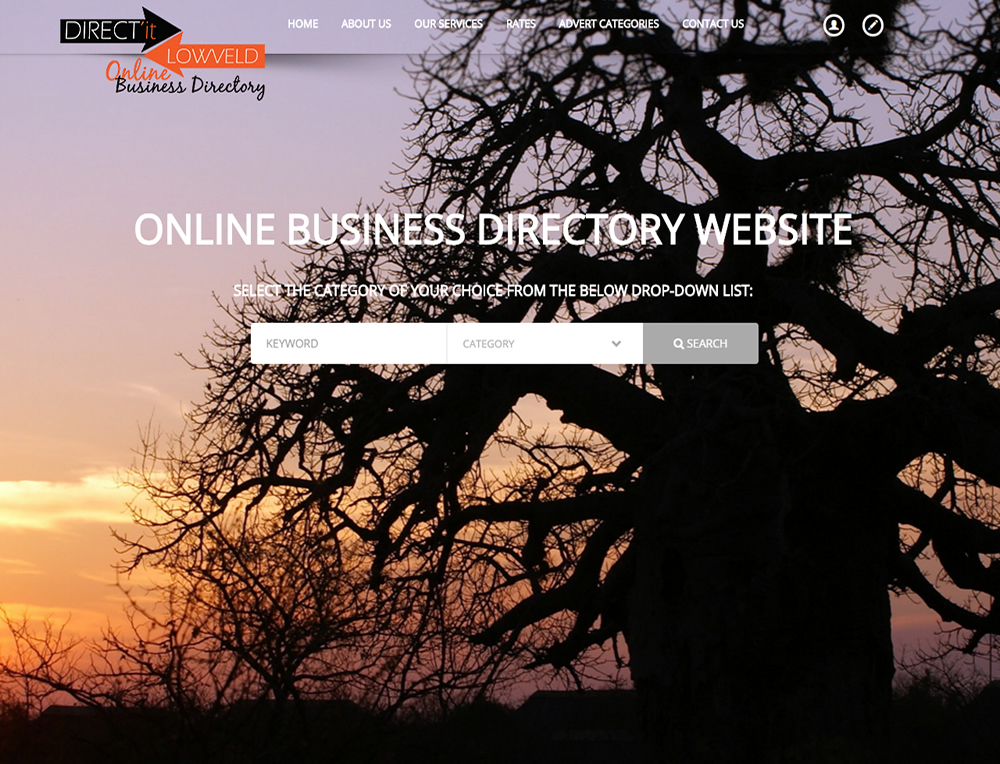 DIRECT'it LOWVELD online Business Directory Website Mpumalanga, Nelspruit, Mbombela, White RIver, Hazyview, Barberton, Sabie, Graskop, Middelburg, Lydenburg, Witbank
