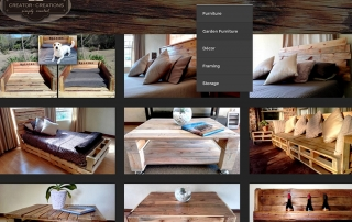 Creator Creations Pallet Furniture Website by Design So Fine. Online Furniture Shop Website, Pallet Furniture, Woodworks, Custom Furniture in White River