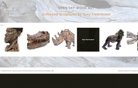 Open Sky Wood Art Drift Wood Sculptures by Tony Fredriksson Website Showcase created by Design so Fine